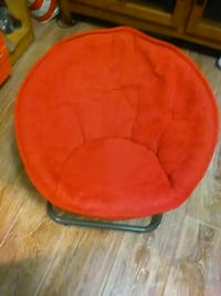 red and black moon chair