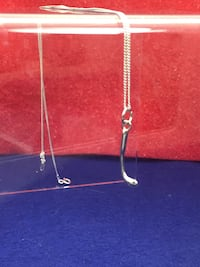 Sterling silver hockey stick pendant charm