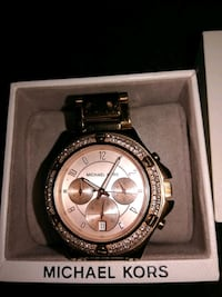 round gold Michael Kors chronograph watch with link bracelet Butler County, 45011