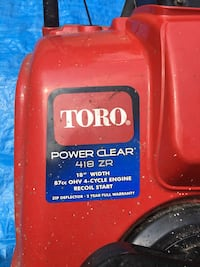 Toro Power Clear 418 ZR Mississauga, L5H 1S1