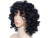 new black short curly wig Colton, 92324