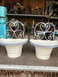 Vintage 1970's metal patio decor/ or in home
