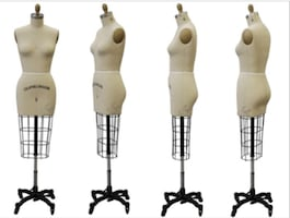Professional Female Half Body Dress Form With Collapsible Shoulder And Arm (Size 12)
