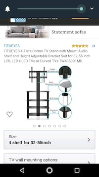 """4 tier TV stand with TV mount for up to 55""""tv. Gastonia, 28054"""