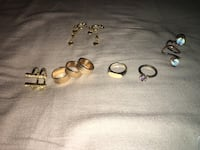 Gold-colored rings & earrings whole lot Stoney Creek, L8G 2T1
