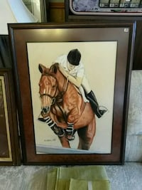 brown wooden framed painting of woman Milwaukee, 53215
