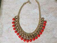 red and silver beaded necklace Brampton, L6Y 3P7
