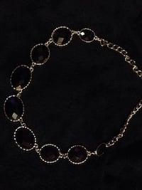 BNWOT BLACK/gold Crystal necklace & matching earrings  Hudson, 28638