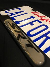 SRT licence plate cover