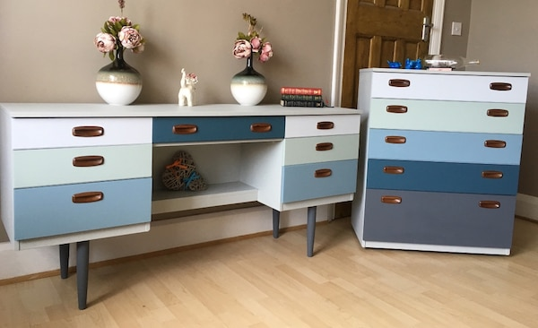 Original Schreiber Hand Painted Bedroom Set