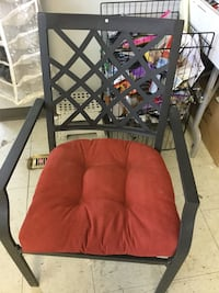 red and black padded chair Winnipeg