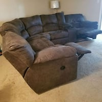 Gray suede 3-seat recliner sofa with 2 end tables Orlando, 32801