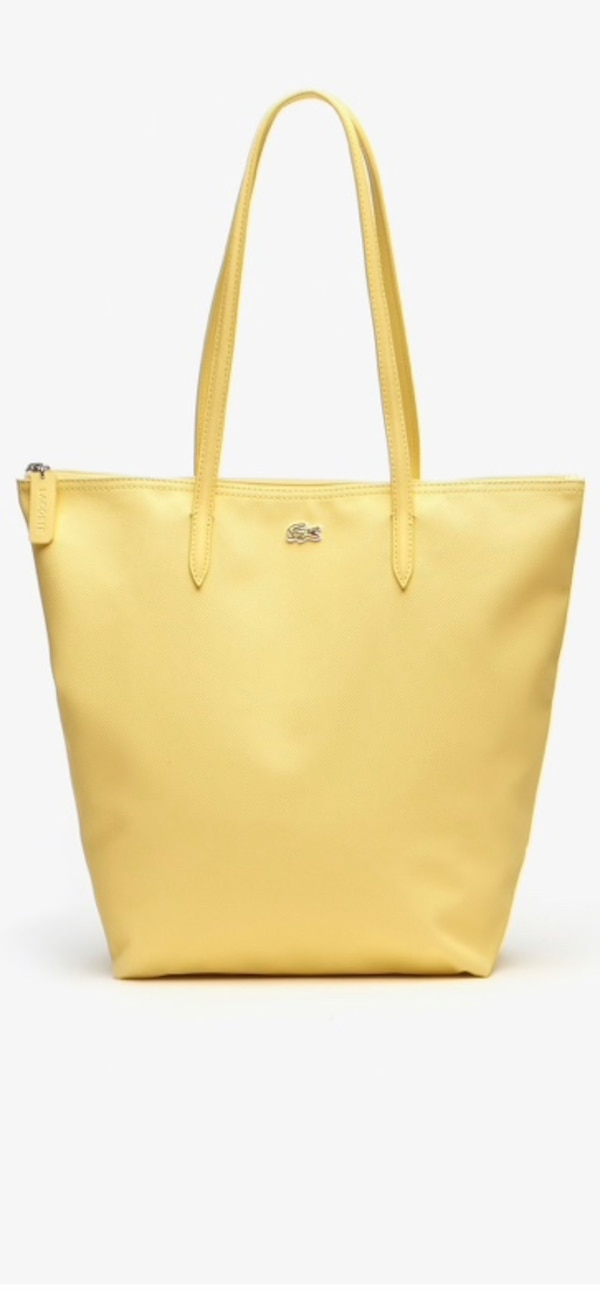 Lacoste Yellow Vertical Tote Bag