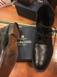 pair of black leather dress shoes with box Silver Spring, 20910