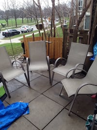 4 patio chairs-as is Mississauga, L5J 1V6
