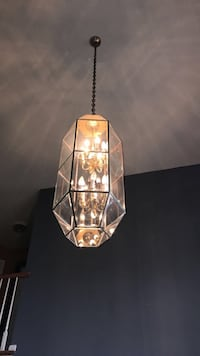 silver-based clear glass pendant lamp Country Club Hills, 60478