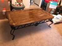 rectangular brown wooden coffee table Charlotte, 28211