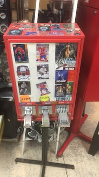 assorted topps trading card game dispenser