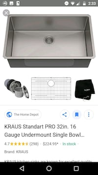 New in box Kraus sink Oakton, 22124
