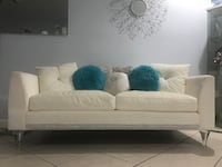 white fabric 2-seat sofa Clearwater, 33765