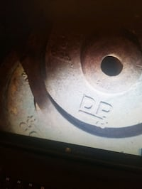 Used 25 pound plate weight 1 inch hole $40