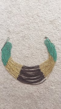 green and brown beaded necklace Montgomery Village, 20886
