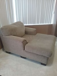 beige cushion chaise lounge chair and couch Toronto, M6N 1C9