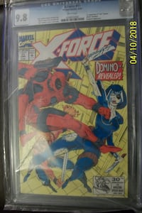 "X-Force #11 CGC 9.8 1st app. ""real"" Domino, Deadpool app. Vaughan"