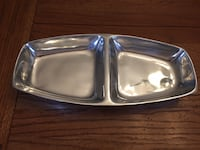 Pottery Barn metal serving dish Sterling, 20165
