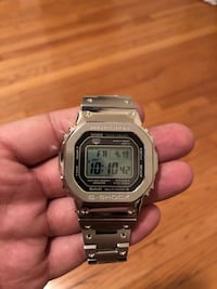 silver Casio digital watch with silver link Jersey City
