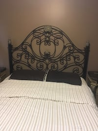 Queen size bedroom set.  Night stands are marble very heavy.  This bedroom will last you forever. No matresses