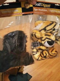 Gorilla and tiger head covers for gold clubs Whitby, L1R