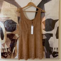 Revolve MINKPINK Lackawanna Blues dress in brown faux suede size XS Vancouver, V6E 1W1