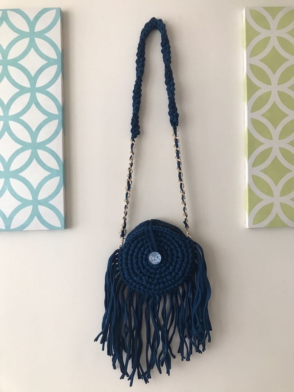 631107de8ae2 Blue Fringe Crossbody Bag In New York Letgo. Burberry Peyton Fringed Suede  ...