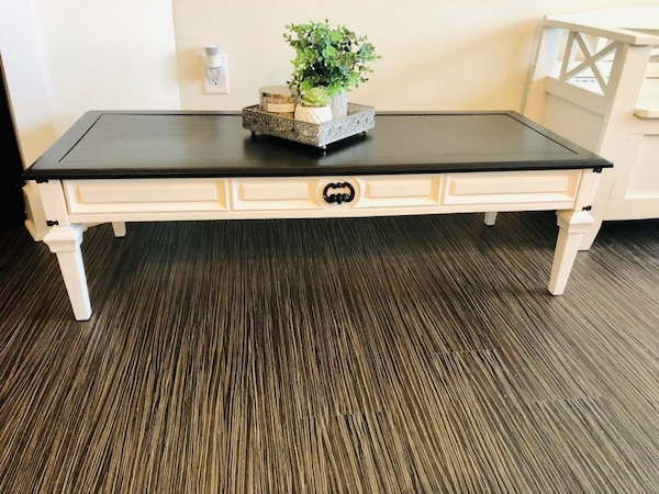 Rustic White Coffee Table