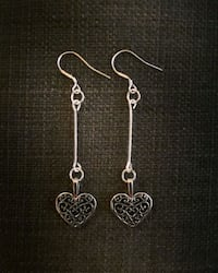 Sterling silver heart earrings Toronto, M8V 3C8