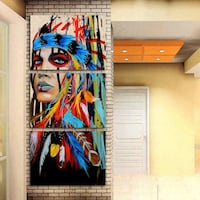 Native American female painting Toronto