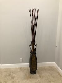 House decor. Bamboo with metal vase.  Pembroke Pines, 33025
