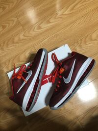 """Lebron 9 Lows """"Team Reds"""" Size 9"""