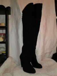 BLACK SUEDE THIGH HIGH BOOTS SIZE 7 Fairfield, 94534