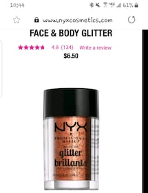 Nyx glitter loose originally $6.50