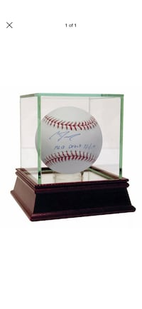 Clint Frazier Autographed Baseball w. Case (and Certificate of Auth.)