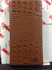 Brown crocodile skin leather long wallet Simcoe, N3Y 3V5
