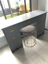 Desk and new gold and grey velvet stool Burlington, L7L 6K3