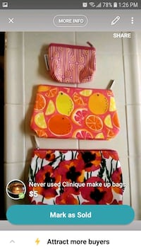 red and white floral Vera Bradley bag screenshot 2389 mi