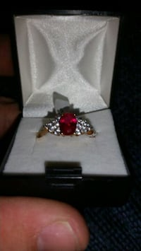 14k gold plated w/ ruby Galena, 65656
