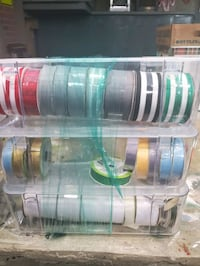 SPOOLS OF RIBBON WITH STORAGE