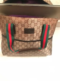 brown and green monogrammed Gucci leather tote bag Riverside, 92505