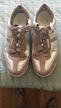 pair of brown-and-white Nike sneakers Revere, 02151