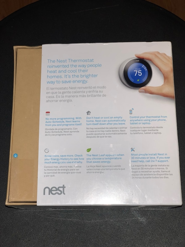Nest thermostat brand new stainless steel